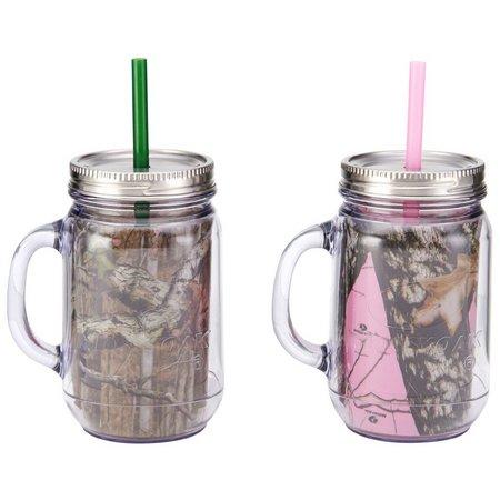 Mossy Oak 2-pc. Mason Jar Mug Set