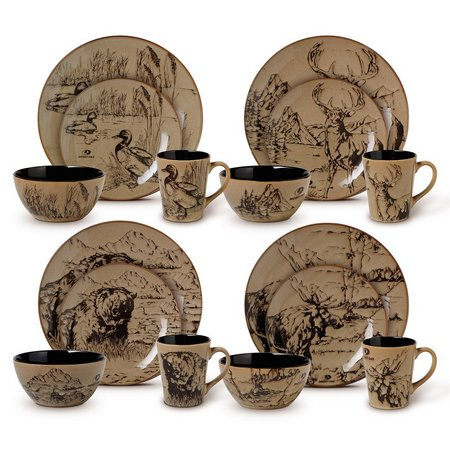 Mossy Oak Animal Print 16-pc. Dinnerware Set