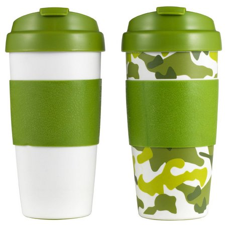 Design for Living 2-pc. Camo Flip Top Mug