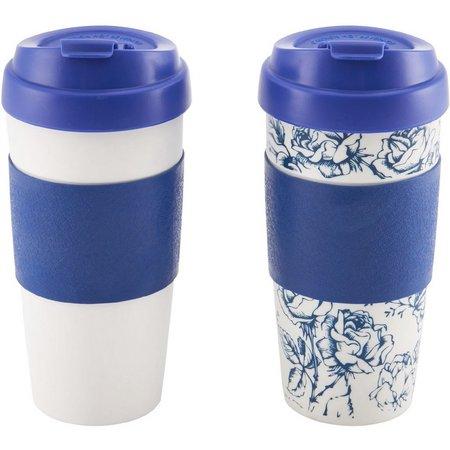Design for Living 2-pc. Blue Flip Top Mug
