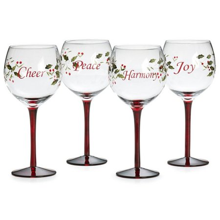 Pfaltzgraff Winterberry 4-pc. Wine Glass Set