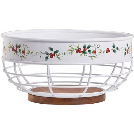 Pfaltzgraff Winterberry Wire Bread Basket