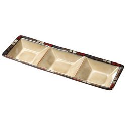 Pfaltzgraff Calico 3 Section Tray