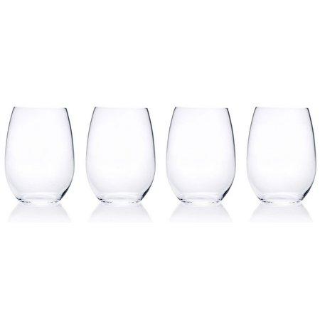 Mikasa Laura 4-pc. Stemless Wine Glass Set