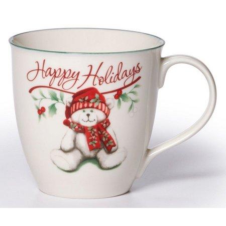 Pfaltzgraff Winterberry 20 oz. Happy Holidays Mug