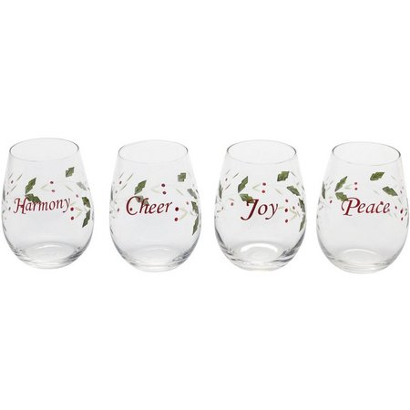Pfaltzgraff Winterberry 4-pc. Stemless Wine Glasses