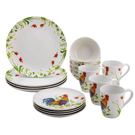 Bonjour 16-pc. Meadow Rooster Dinnerware Set