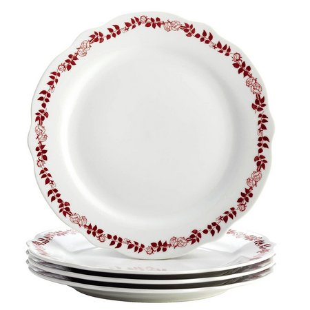 Bonjour 4-pc. Yuletide Garland Dinner Plate Set