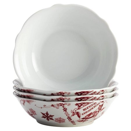 Bonjour 4-pc. Yuletide Garland Cereal Bowl Set