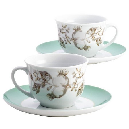 Bonjour Fruitful Nectar Teacup & Saucer Set
