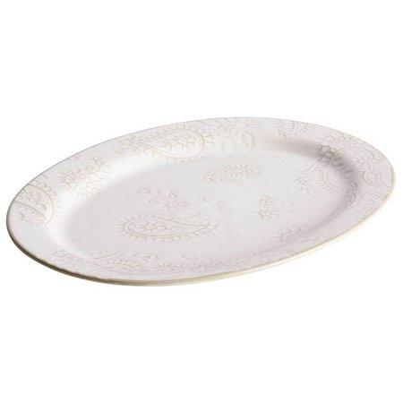 Bonjour 10'' x 14'' Paisley Vine Oval Platter
