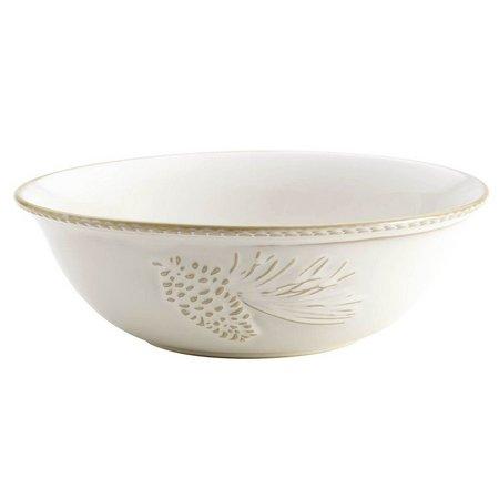 Bonjour Sierra Pine 10'' Cream Round Serving Bowl