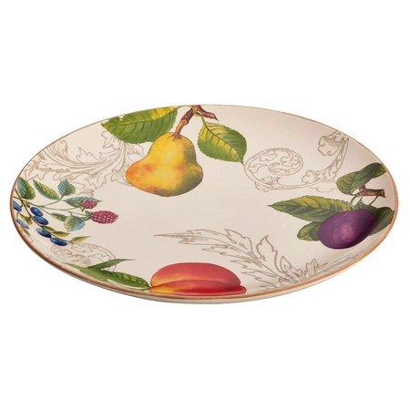 BonJour 12'' Orchard Harvest Round Platter