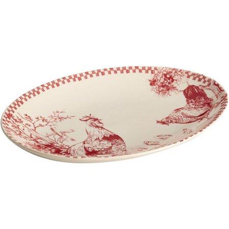 Bonjour Chanticleer Country Oval Platter