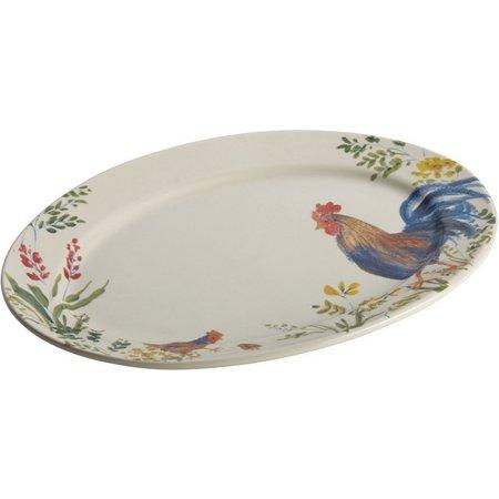 Paula Deen Garden Rooster Oval Serving Platter