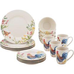 Paula Deen Garden Rooster 16-pc. Dinnerware Set