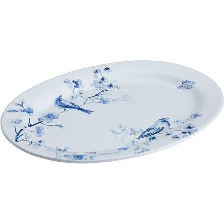 Paula Deen Indigo Blossom Oval Serving Platter