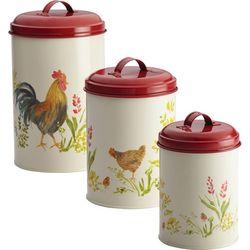Paula Deen Garden Rooster 3-pc. Canister Set