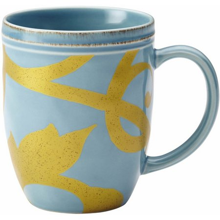 Rachael Ray Gold Scroll 12 oz. Mug