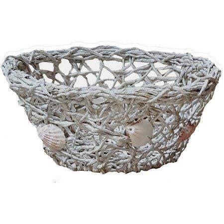 JD Yeatts Decorative Shell Basket