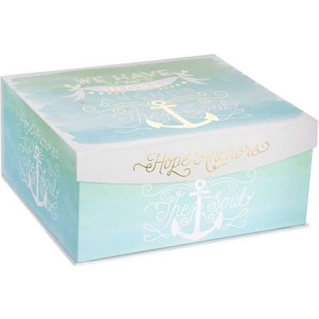 Enchante 16'' Watercolor Print Decorative Box