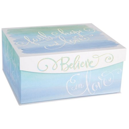 Enchante 14'' Watercolor Print Decorative Box
