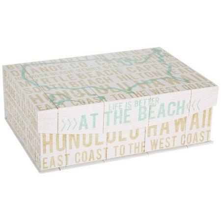 Enchante 15'' Beach Text Storage Bin
