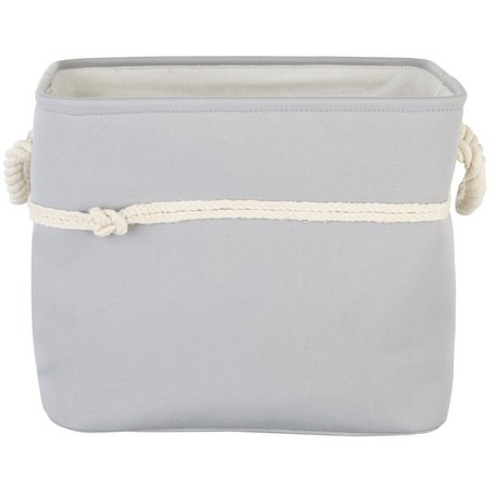 Enchante 16'' Grey Rope Knot Storage Tote