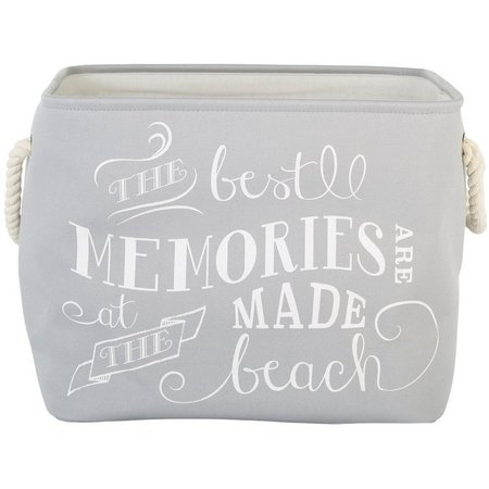 Enchante 18'' Grey Memories At The Beach Tote