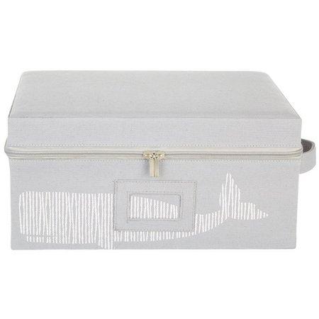 Enchante 13'' Grey Whale Zippered Storage Box