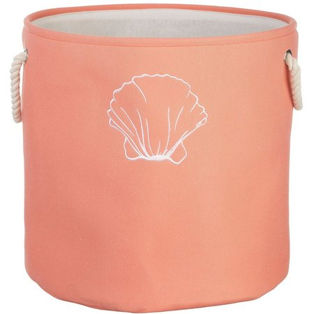 Enchante 19'' Shell Print Round Storage Tote