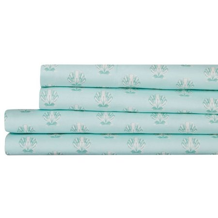 Coastal Home Shell Print Microfiber Sheet Set