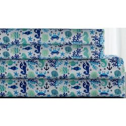 Elite Home Whimsy Sea Life Printed Sheet Set