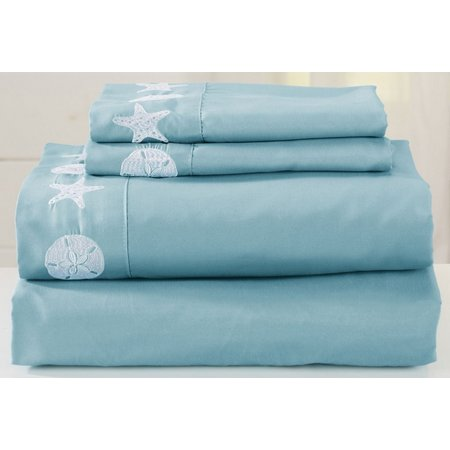 Seascapes Embroidered Starfish Sheet Set