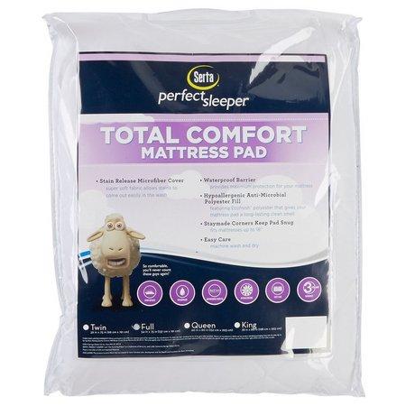 Serta Total Comfort Full Size Mattress Pad