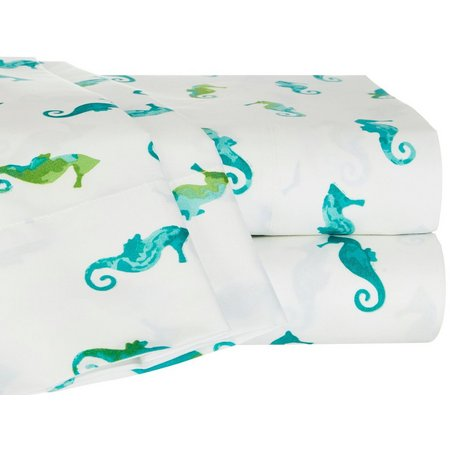 Elise & James Home Watercolor Seahorse Sheet Set