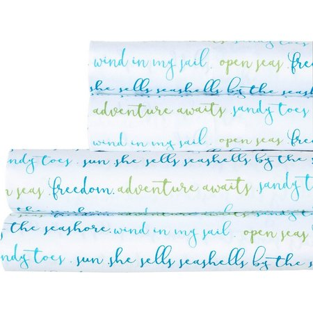 Elise & James Home Sea Shell Typography Sheet