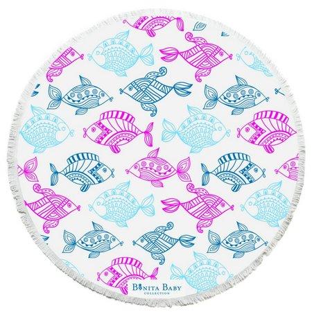 Bonita Beach Collection Rainbow Fish Roundie Towel