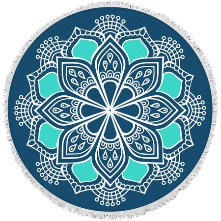 Bonita Beach Collection Mediterranean Round Towel