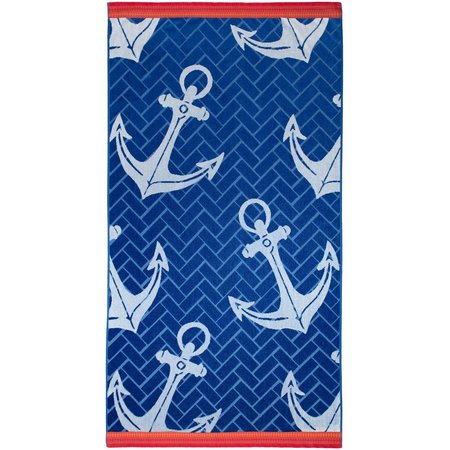 Caribbean Joe Anchor Beach Towel