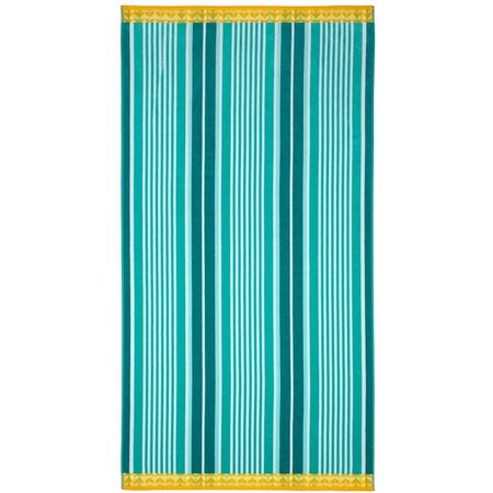 Caribbean Joe Green Stripe Beach Towel