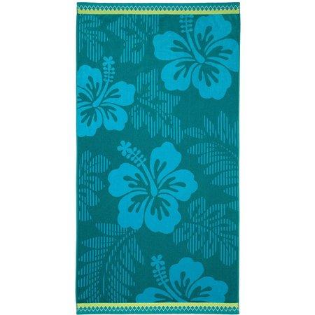 Caribbean Joe Tropical Hibiscus Beach Towel