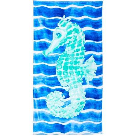 Tropix Seahorse Stripe Beach Towel