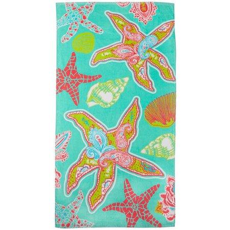 Tropix Paisley Starfish & Shell Beach Towel