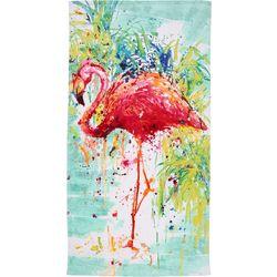 Tropix Splash Watercolor Flamingo Beach Towel