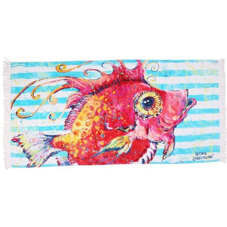 Leoma Lovegrove A Fish Called Calda Beach Towel