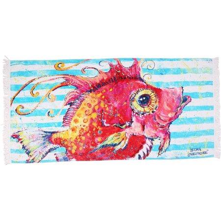 Leoma Lovegrove A Fish Called Calda Beach Towel