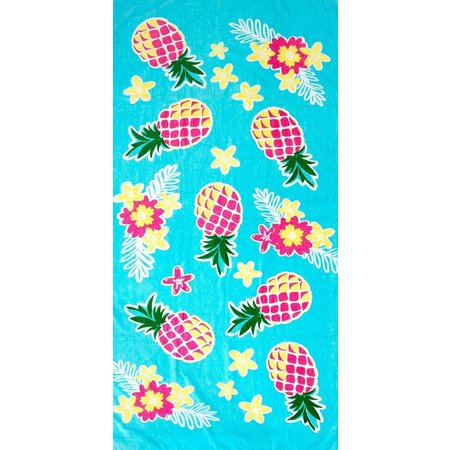St. Tropez Pink & Yellow Pineapple Beach Towel