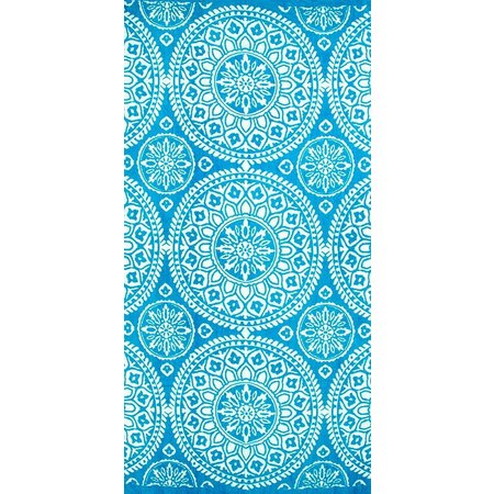 St. Tropez Medallion Blue Beach Towel