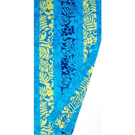 St. Tropez Hawaiian Floral Blue Beach Towel
